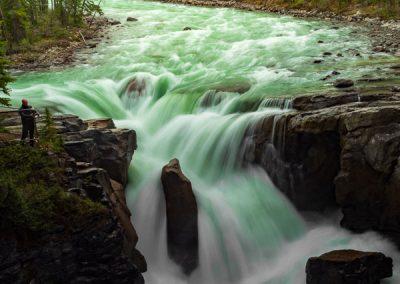 travel is sweet sunwapta falls