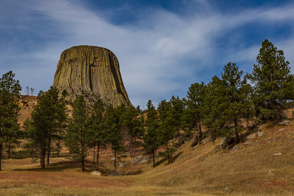 devils tower travel is sweet behind