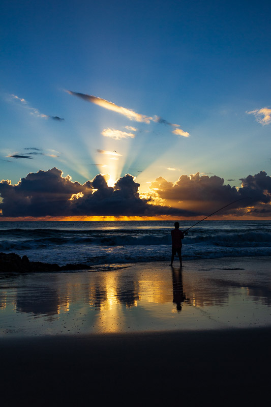 currumbin rock fisherman sunrise travel is sweet