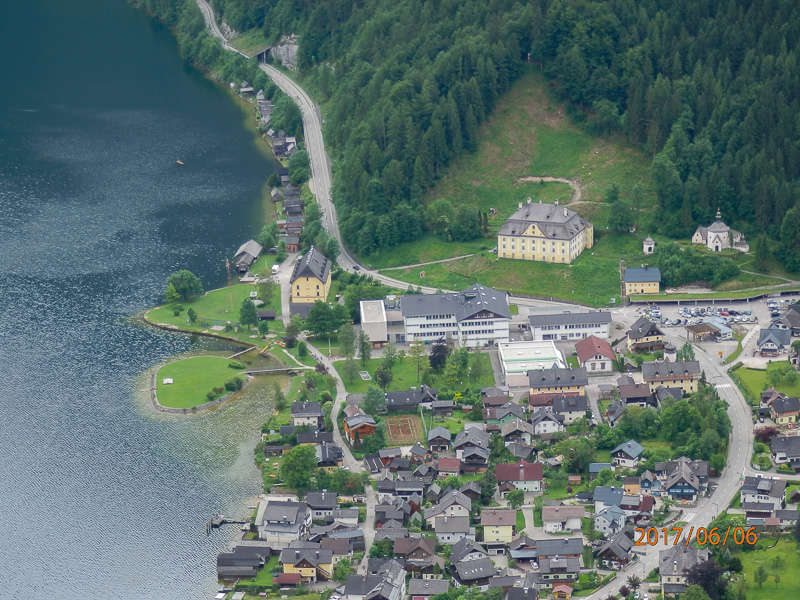 hallstatt aerial veiw travel is sweet