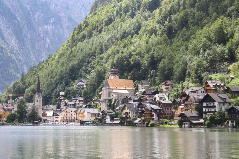 hallstatt river veiw travel is sweet