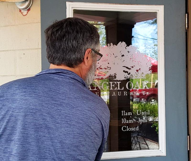 angel oak cafe entrance travel is sweet
