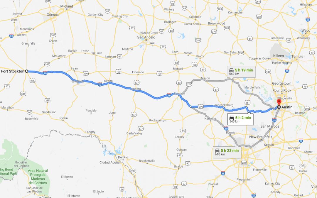 Fort Stockton to Austin