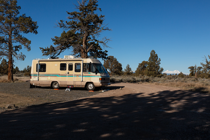 boondocking reynolds pond oregon parking spot 2