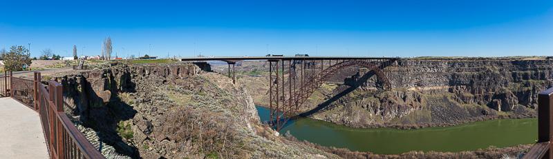 twin falls idaho perrine bridge panorama 2