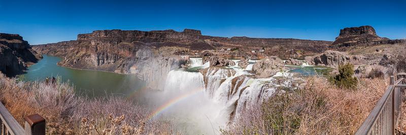 twin falls idaho shoshone falls panorama