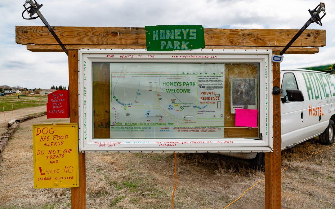 Boondocking Honey's Arco Idaho